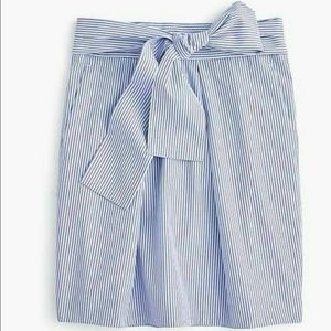 NWT J. Crew Stripes Tie Waist Bow Seersucker 0